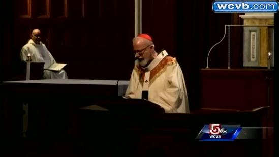 Cardinal Sean O'Malley offers mass for victims of marathon bombing