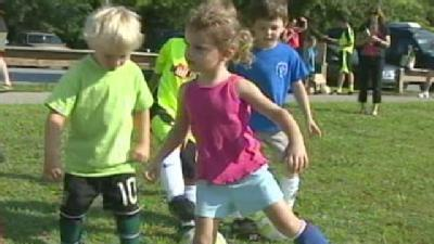 Women's Soccer Team Inspires Young Players