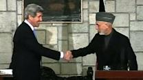 Kerry, Karzai Bury Hatchet in Kabul Meeting