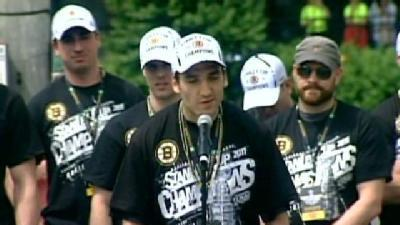 Bruins Patrice Bergeron Before The Rally