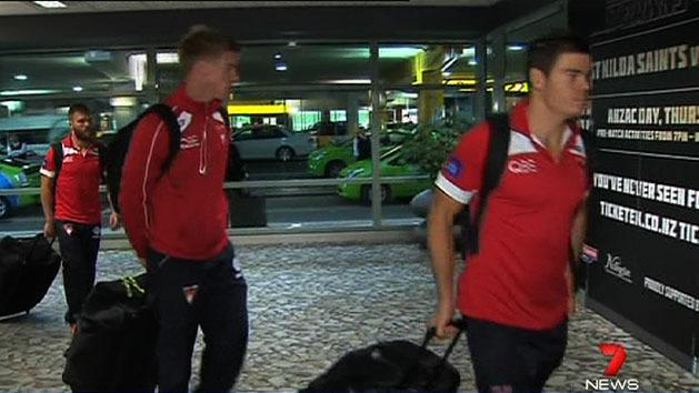 Swans arrive in NZ for ANZAC match