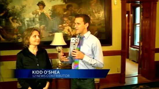 Kidd tours Pabst Mansion in Milwaukee