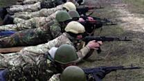 Ukrainian troops getting ready for combat