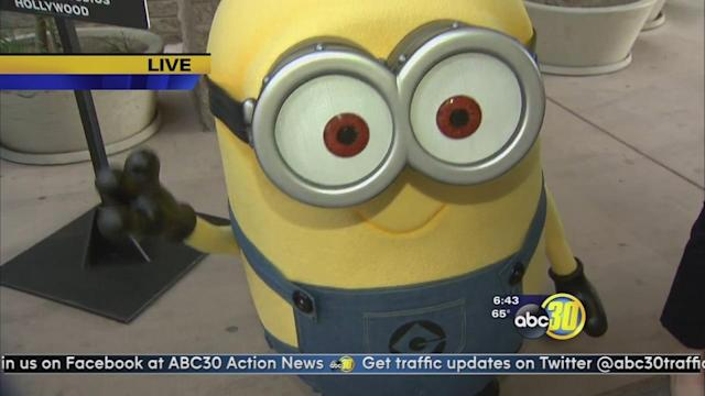 The Despicable Me minions are in Fresno
