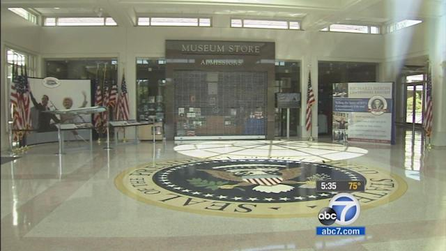 Gov't shutdown: Nixon library in OC closed