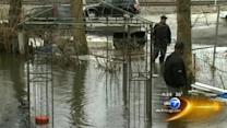 Rain brings flooding to Dolton