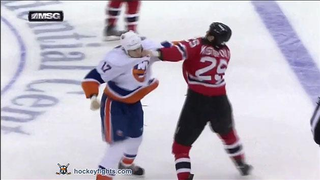 One punch NHL knockout