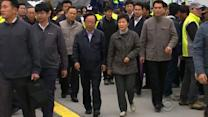 South Korean president meets with families of ferry victims