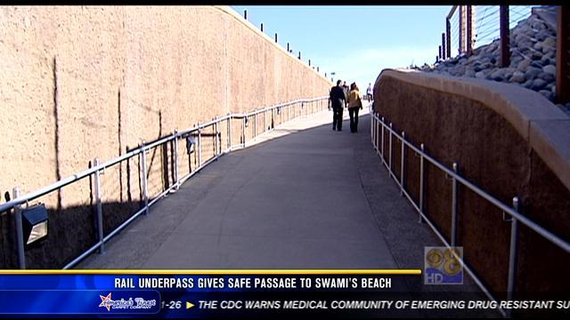 Rail underpass gives safe passage to Swami's Beach