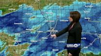 Snow showers to continue into late afternoon