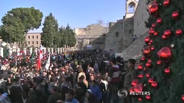 Jerusalem's Greek Patriarch arrives in Bethlehem to lead Orthodox Christmas mass