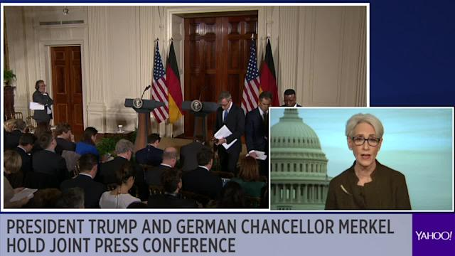Ambassador Wendy Sherman and Yahoo Finance columnist Rick Newman weigh in before Trump and Merkel's press conference