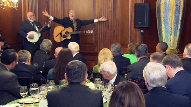 Irish music plays for PM Kenny, Obama in U.S. Capitol visit