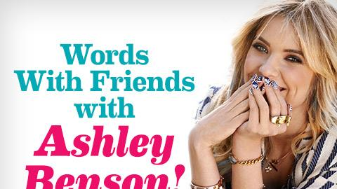 Ashley Benson plays Seventeen's Words With Friends