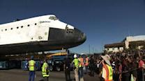 Endeavour reaches permanent LA museum home