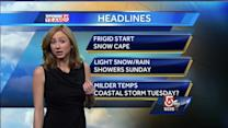 Danielle's Saturday Boston-area forecast