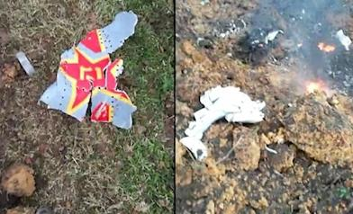 墜機殘骸曝光 他們來不及逃