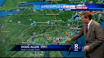 More isolated thundershowers possible this evening