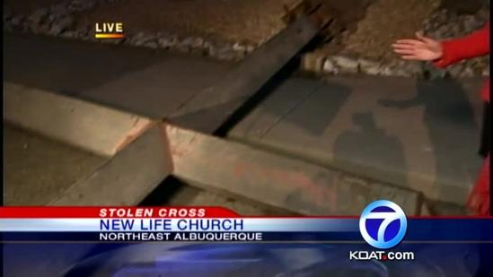 2-ton steel cross returned to church after heist