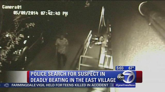 Police search for suspect in deadly East Village beating