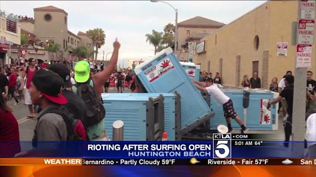 Rioting Breaks Out in Huntington Beach After U.S. Surfing Open