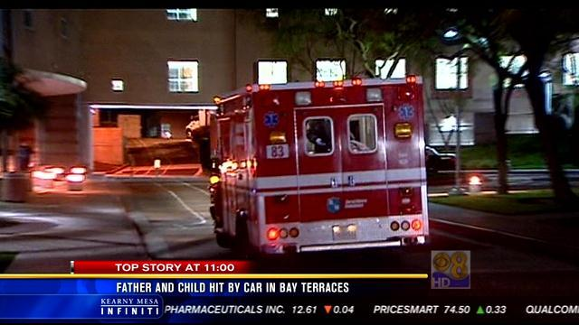 Father and two-year-old son struck by car in Bay Terraces