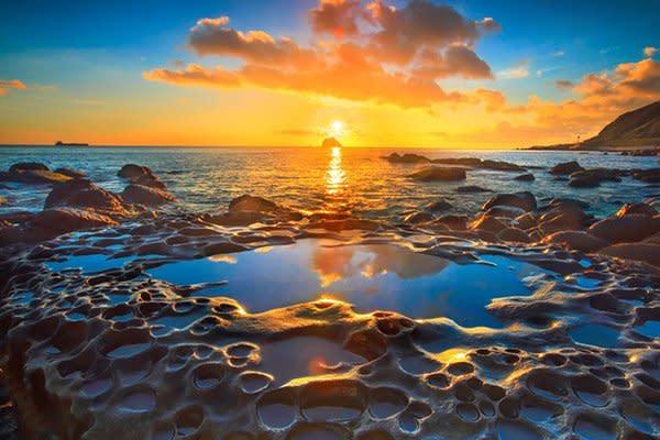 基隆和平島公園日出之美 (圖/北海岸及觀音山國家風景區)