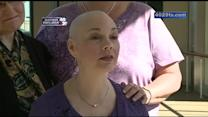 Mercy nurses support co-worker, friend by shaving heads