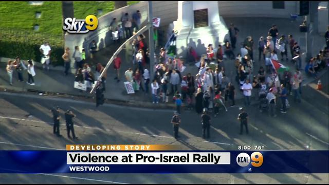 Violence Erupts At Pro-Israel Rally In Westwood