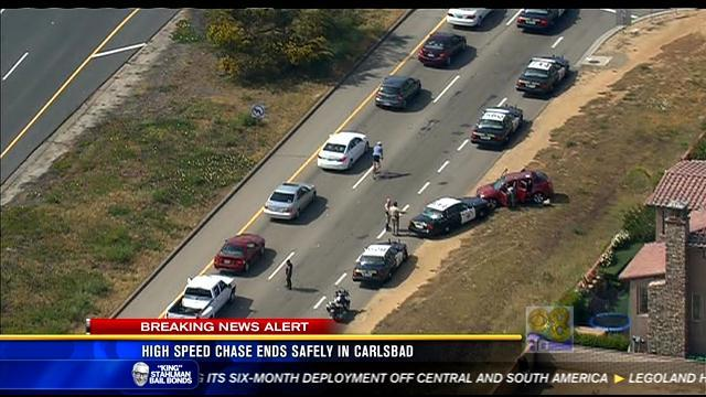 High-speed chase ends safely in Carlsbad