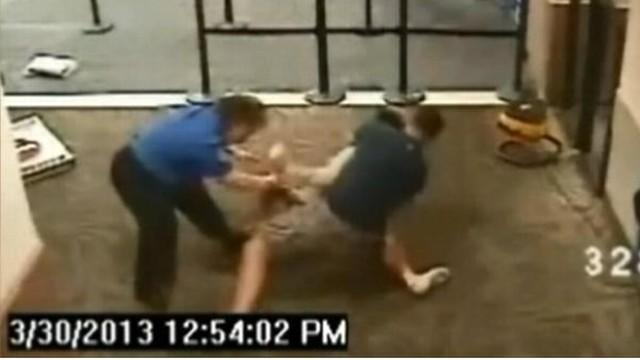 Hero Cop Tackles Female Airport Attacker