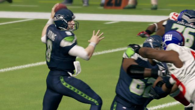 Steve Seahawk Young - Madden NFL 13 Gameplay
