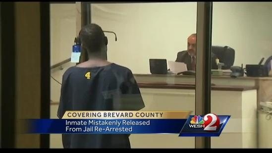 Inmate mistakenly released from Brevard County Jail back behind bars