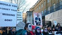 Demonstrators in London Protest Mexican President Visit