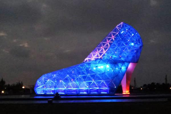 高跟鞋教堂農曆新年推出「高跟鞋教堂全新音樂燈光秀」 (圖/雲嘉南風景區管理處,以下同)