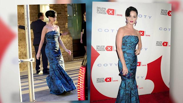 'Devil' Katy Perry Looks Heavenly in Blue at Charity Bash