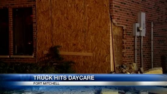 Day care center closed Monday after truck crashes into it