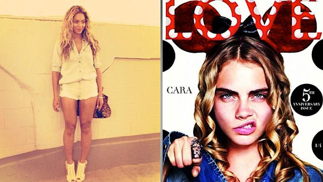 Beyoncé's Look of the Day, Behind the Scenes With Cara Delevingne, and More!