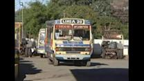 Sacked Paraguayan bus drivers in gruesome crucifixion protest