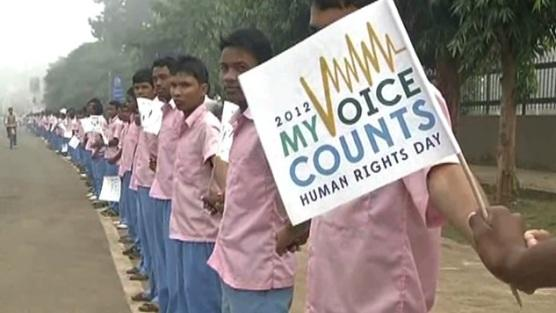 Human chain for human rights