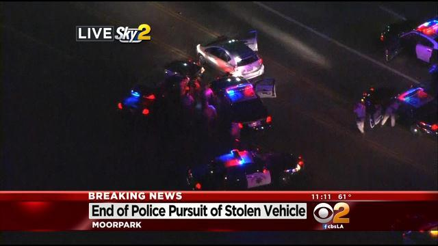 Suspected Car Thief Leads High-Speed Chase Across Southland Freeways