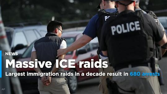US immigration raids sweep up hundreds of undocumented migrants