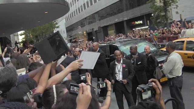 Robert Pattinson Greets Fans at 'Cosmopolis' Premiere in NYC