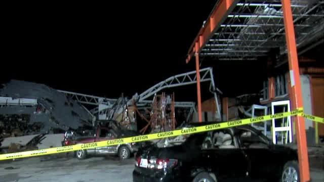 Monday morning damage video from Joplin