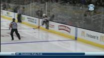 Hamilton illegally plays puck from the box
