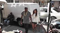 Pregnant Kim Kardashian Eats For Two at a Family Meal in Greece
