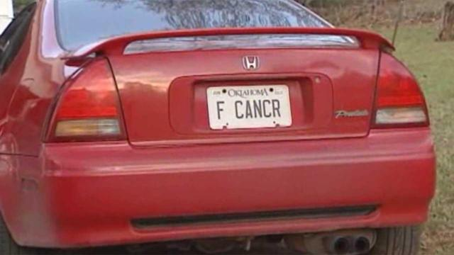 'F Cancr' license plate causes stir in Oklahoma