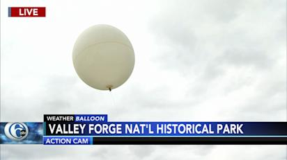 6abc Weather Balloon launched from Valley Forge