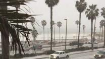Hail Hits Huntington Beach