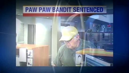 'Paw Paw Bandit' headed to prison
